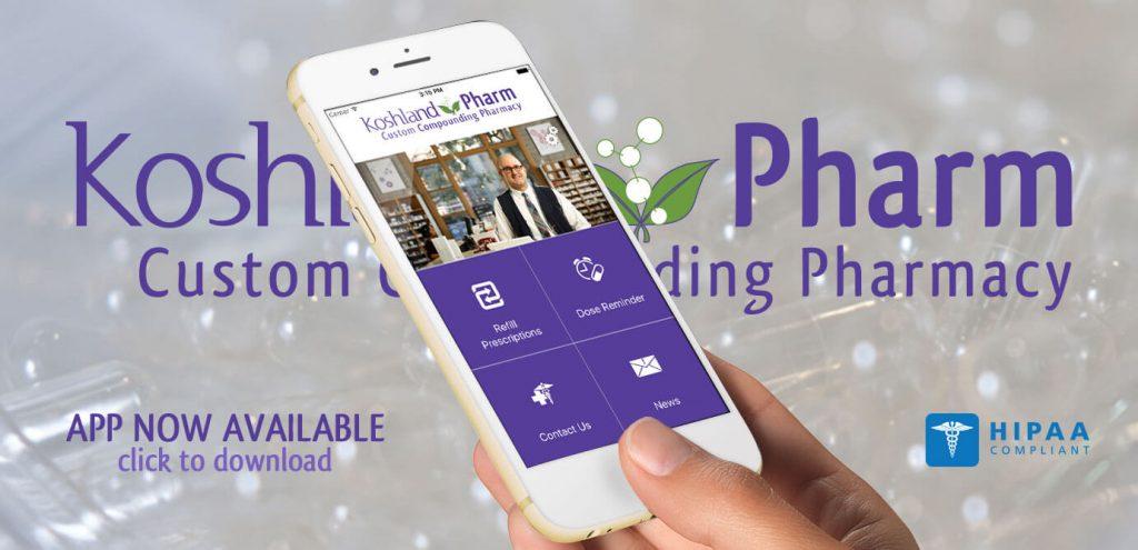 koshland pharm compounding pharmacy's mobile app