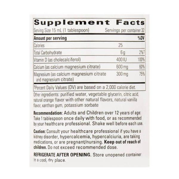 Liquid Calcium Magnesium Supplement Facts