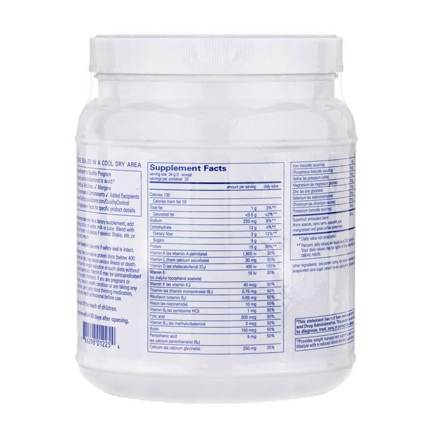 PureLean Supplement Facts