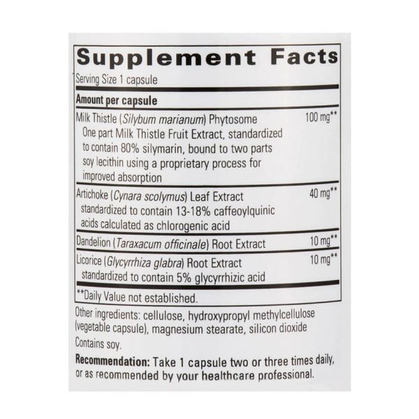 Super Milk Thistle X Supplement Facts