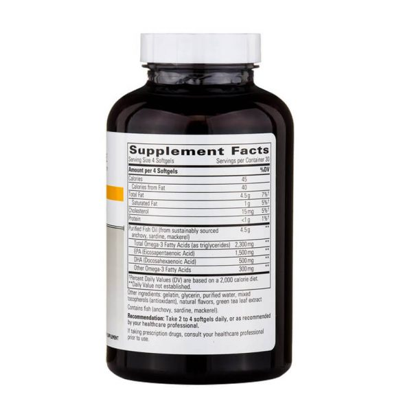 Pure Omega HP Supplement Facts