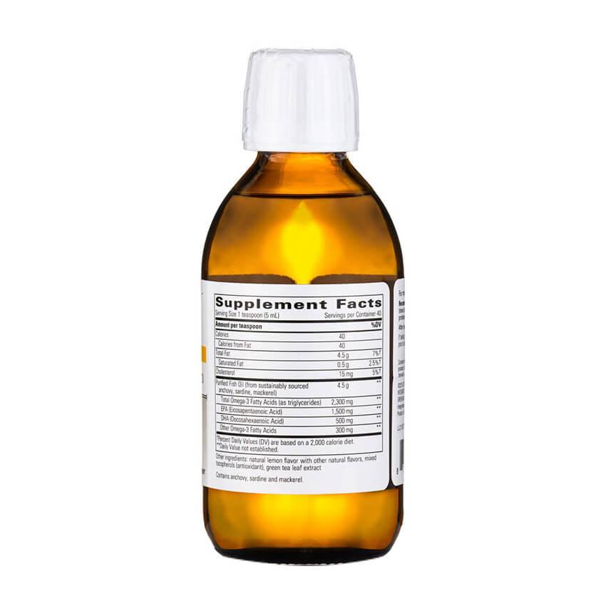 Pure omega liquid koshland pharm for Omega 3 fish oil liquid