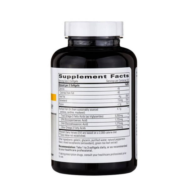 Pure Omega Ultra HP Supplement Facts